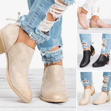 купить New Autumn Women shoes Female Square Heel Slip on Women High heels Shoes Pointed Toe Casual Ladies Fashion Shoes Women по цене 997.86 рублей