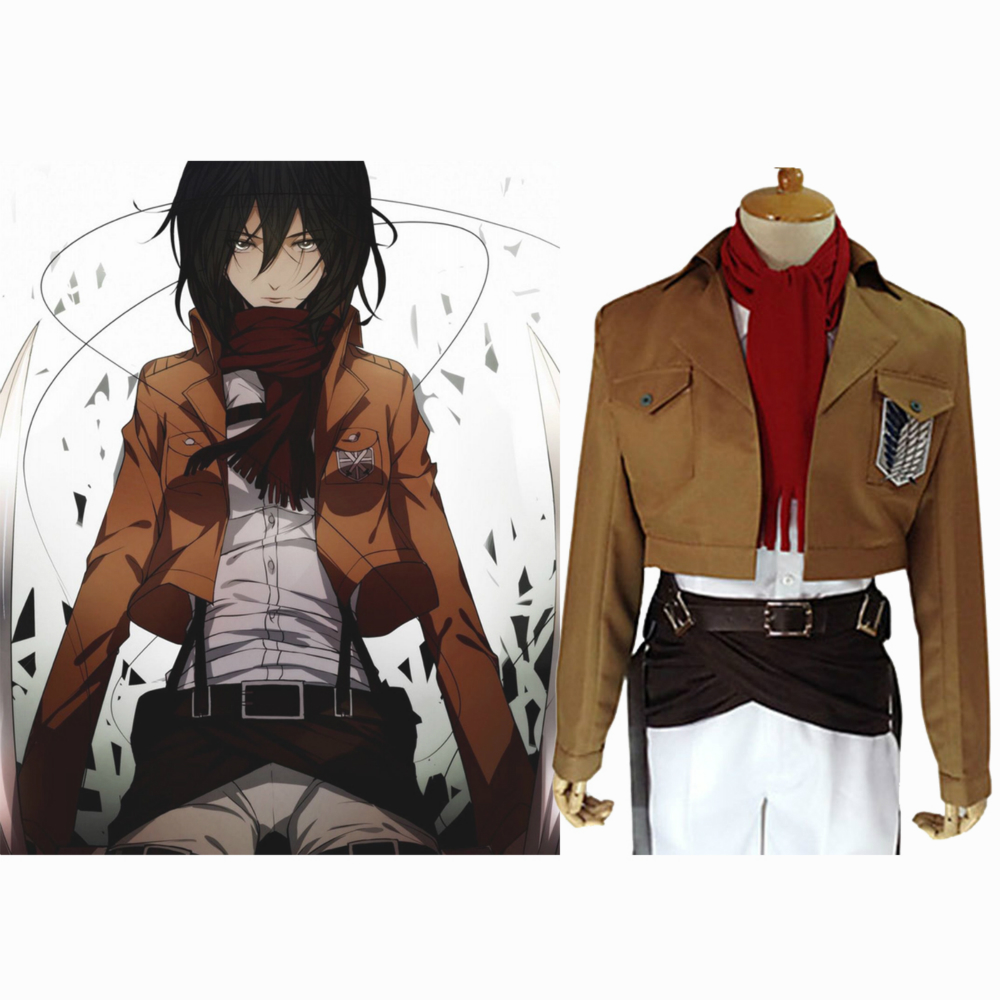 Us 54 89 21 Off Attack On Titan Mikasa Ackerman Cosplay Costume Shingeki No Kyojin Cosplay Set Jacket Pants In Anime Costumes From Novelty Special