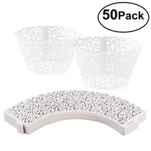 Envolturas de cupcakes con corte láser para envoltorio de baño