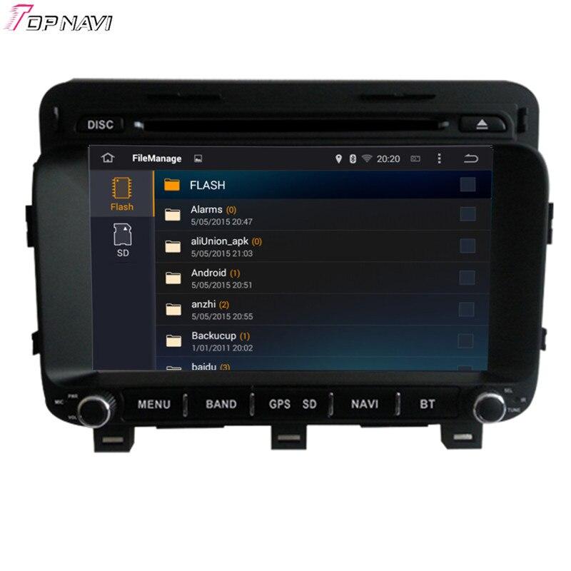 Topnavi 8 ''Quad Core Android 6.0 voiture DVD jouer pour KIA K5/OPTIMA 2014-/Magentis Autoradio GPS Navigation Audio stéréo - 5