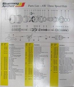 Image 5 - Sturmey moyeu arrière à 3 vitesses, bicyclette Archer Vintage, bicyclette interne à trois vitesses, roue AW, 36 trous, nouveau STOCK