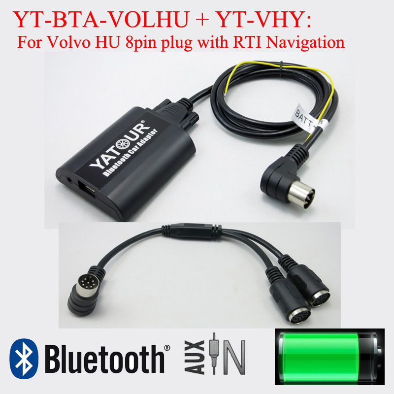 Para volvo original RTI navegación Bluetooth USB mp3 aux en CD cambiador adaptador