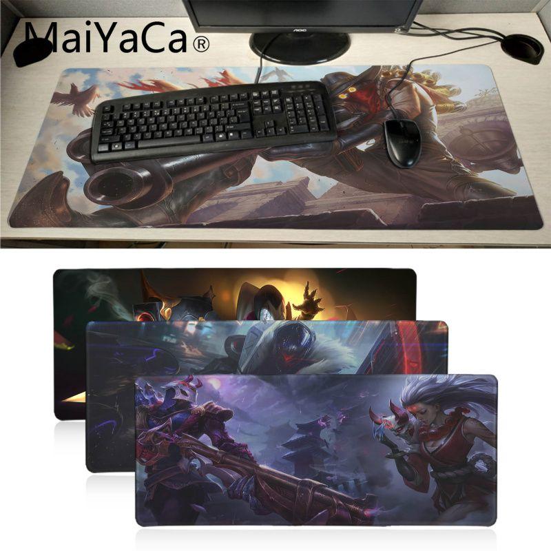 Maiyaca Boy Gift Pad League Of Legend Jhin Beautiful Anime Mouse Mat Locking Edge Gaming Mousepad Mat Keyboard Mat Table Pad