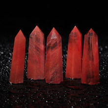 1PC Natural Rare Red Quartz Crystal Single Terminated Wand Point Healing 50-80mm Mineral Specimens Collectibles Home Decor Stone(China)