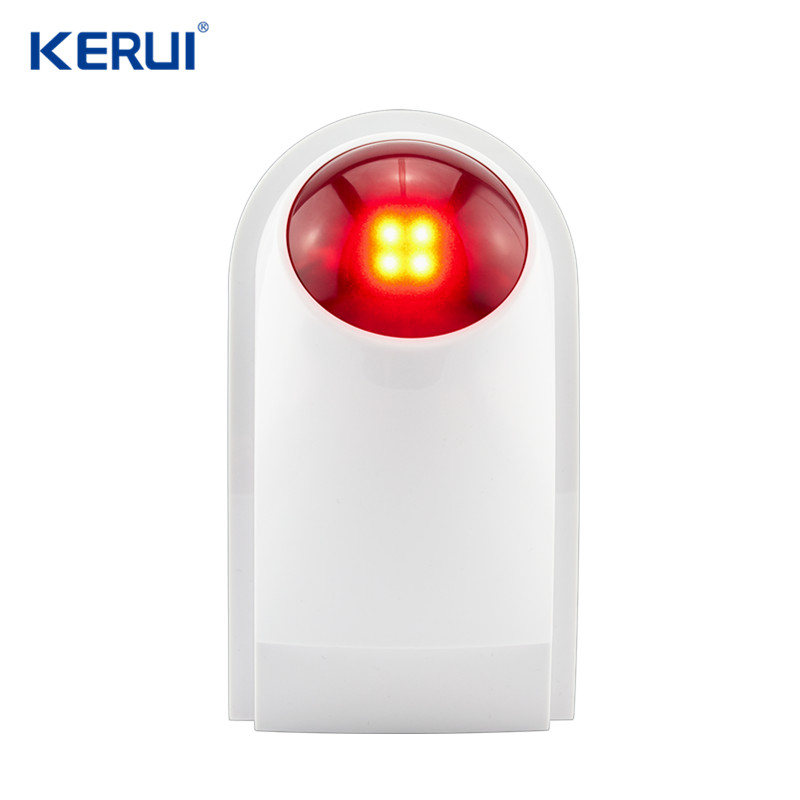 KERUI Wireless Outdoor Siren Suit For Wifi GSM PSTN Alarm System 110db Waterproof Flash Siren Sound Strobe Flash Alarm Siren sporta
