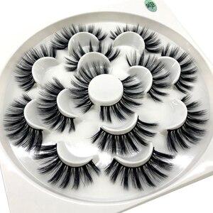 Image 5 - HBZGTLAD New 7 pairs natural false eyelashes fake lashes long makeup 3d mink lashes eyelash extension mink eyelashes for beauty