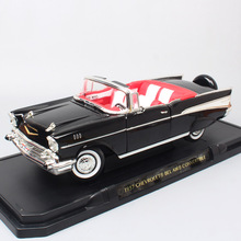 1/18 scale Large classic 1957 CHEVROLET BEL AIR Convertible chevy Diecasts wagon Toys Vehicles Muscle cars models Road Signature 1 43 scale alloy pull back car models high simulation chevrolet bel air 1957 metal diecasts kid s toy vehicles free shipping