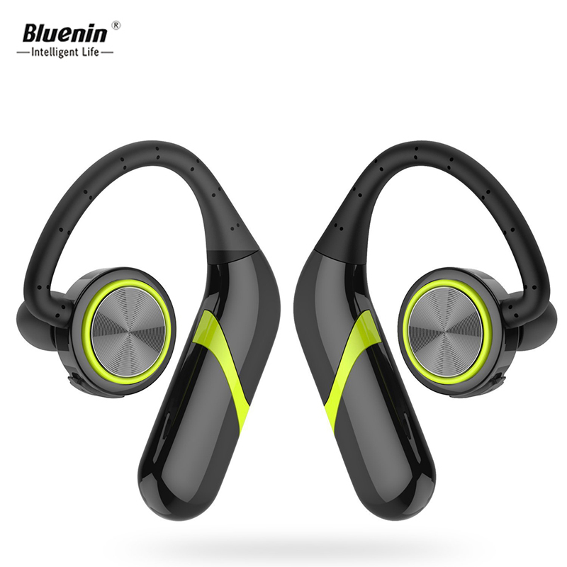 Bluenin TWS True Wireless Earphones Bluetooth Headphone IPX6 Waterproof Stereo Bluetooth Earbuds with Mic Over Ear Headphones