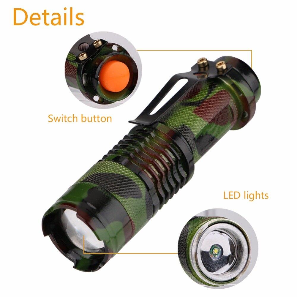 Aluminium Camouflage Flashlight 1000 lum