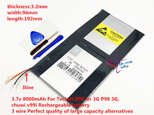 Image 3 - 3.7v 8000mAh 3296192 For Teclast X98 air 3G P98 3G Tablet PC Battery 3 wire X98 X98 AIR p98 X98 P98HD P98
