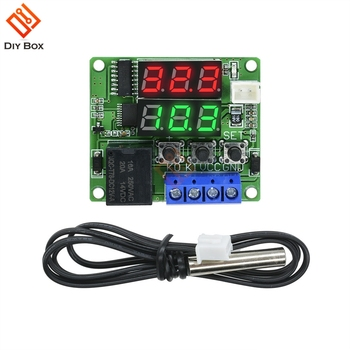 W1209 Smart Digital Thermostat Thermometer 5V 12V Indoor Outdoor Temperature Controller Car Thermal Regulator Weather Station 10pcs w1209 dc 12v heat cool temp thermostat temperature control switch temperature controller thermometer thermo controller