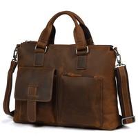 Fahison Для мужчин сумка из натуральной кожи Бизнес сумки Сумка Винтаж Курьерские Сумки Роскошные Crossbody сумка для Для мужчин Bolsas
