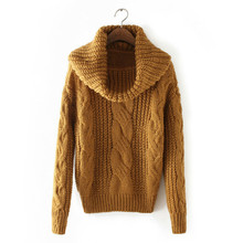 MUXU red sweater women pullover turtleneck sweters invierno veste femme long sleeve knitted sueteres mujer de moda