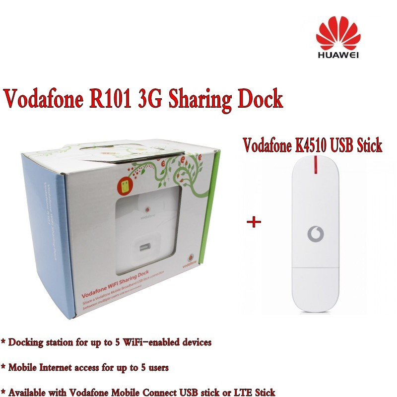 huawei R101 wireless 3g 4g router + vodafone K4510 usb data card ...