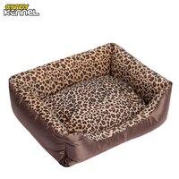 캔디 개집 표범 인쇄 애완 동물 개 고양이 침대 소파 둥지