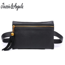 Jiessie & Angela waist bag brand women leather small belt fashion travel handy fanny pack wholesale