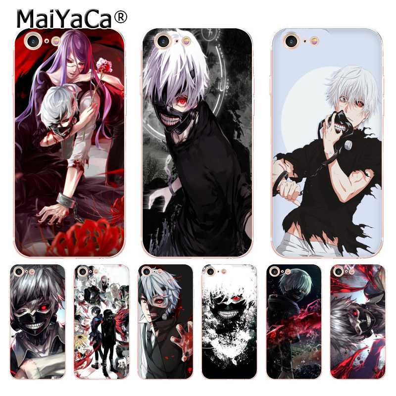 MaiYaCa anime angry kaneki ken Tokyo ghoul soft tpu phone case cover for Apple iPhone 8 7 6 6S Plus X 5 5S SE 5C 4 4S case