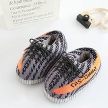 Мужские тапочки INS; популярные тапочки; кроссовки из пеноматериала; зимняя теплая обувь; тапочки с толстым наполнителем; милые шлепанцы для влюбленных; Модные слипоны
