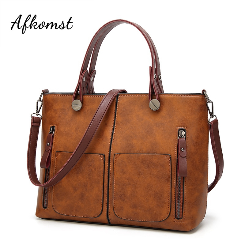 Bags For Women 2018 Vintage Large Capacity Shoulder Bag Female Causal Totes All-Purpose High Quality Dames Handbag Messenger Bag large capacity shoulder bag woman 2018 causal pu leather handbag tote bag soft zipper high quality fashion shoulder bags women