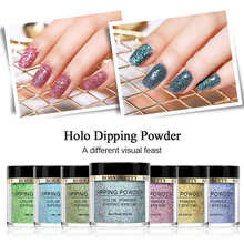 BORN PRETTY Holographic Dip Nail Powder Gradient French Without Lamp Cure Glitter Decor Natural Dry Lasting than UV Gel