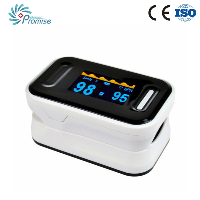 GPYOJA High accuracy medical equipment oximetro finger pulse oximeter oxygen meter with good price black pouch