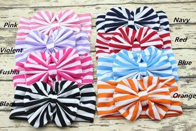 Wholesael Дети флоппи большой бант тюрбан Мода для девочек повязка на голову с бантом для девочек голову дети узел тюрбан 200 шт - Цвет: choose  color