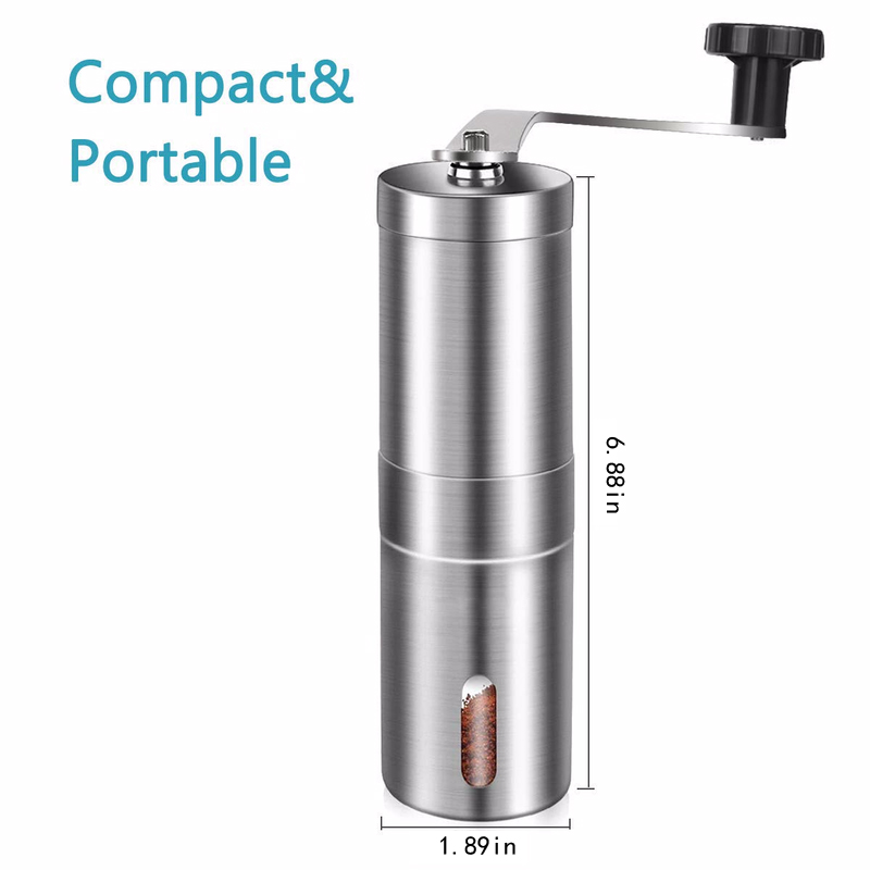Image 3 - Manual Coffee Grinder, Stainless Steel Coffee Mill with Adjustable Ceramic Conical Burr, Ideal for Home, Office, Travelling-in Manual Coffee Grinders from Home & Garden