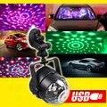RGB LED Car Atmosphere Lights Music Activated Auto Decoration Lamps Car DJ Lights disco light luces discoteca USB Car Magic ball