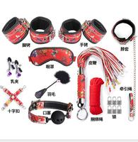 Sex Toys for Couples Open Mouth Gag Bdsm Collar Leather Handcuffs for Sex Adult Games Whip Fetish Lingerie Mask Red Black Purple