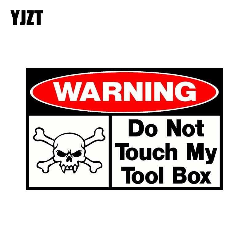 Adesivo de carro engraçado yjzt, 16 cm * 9.8 cm, não toque my tool box, de pvc 0935