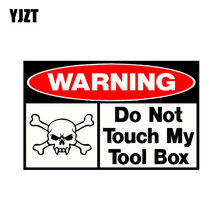 YJZT 16CM * 9.8CM dokunmayın benim alet kutusu komik PVC kafatası araba Sticker çıkartma 12- 0935