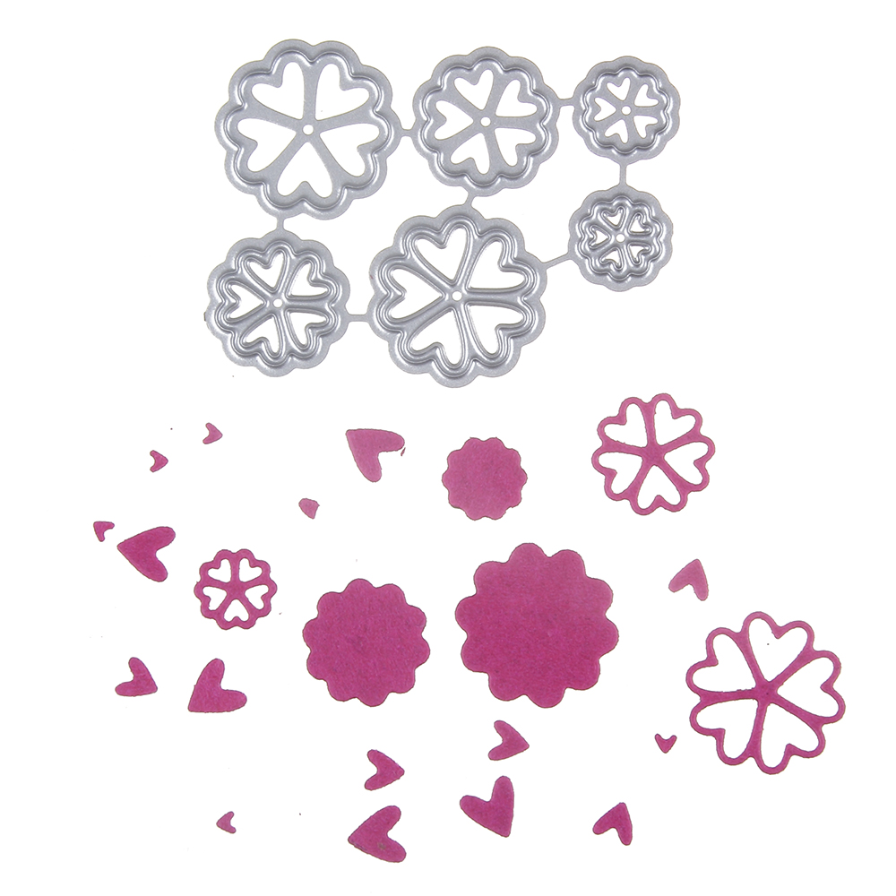 42*56mm scrapbooking 6 love flower frame Shape Metal steel cutting die flower Shape Book photo album art card Dies Cut