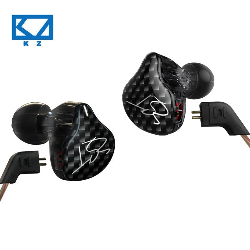 KZ ZST In Ear Balanced Armature Earphone Hybrid Drive HIFI Running Sport Monitor Earplug Earphones Replacement Cable Headset fashion professional in ear earphones light blue black 3 5mm plug 120cm cable