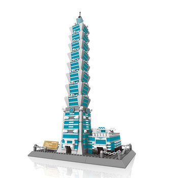 City 1511pcs Famous Building Taipei 101 Building Blocks Bricks Educational Toys hobbies for children gifts Compatible With Toys