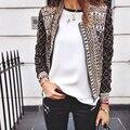Ретро стиль женщин осенью и зимой куртки с решетки шаблон украшение женщины повседневная пальто jaqueta feminina JT359