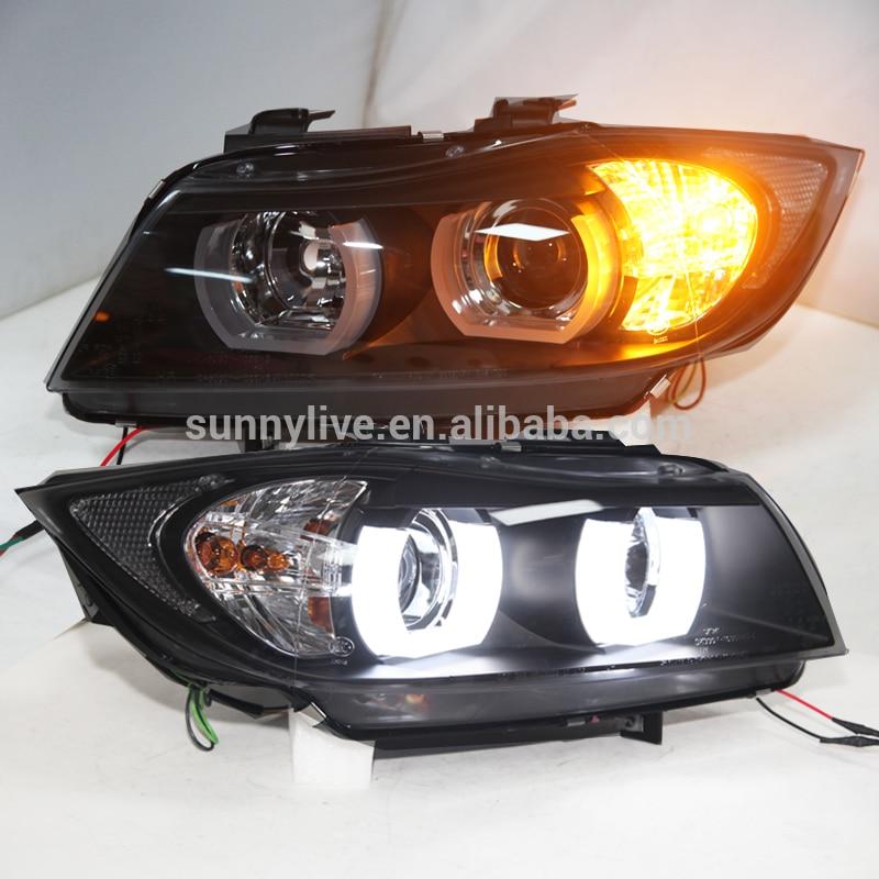 For BMW E90 330I 320I 318i led Angel Eyes headlight SN
