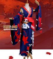 Cosplay Autumn leaves japanese kimono woman Kimono japanese Cos suit