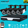 New 4ch Super 4MP HD CCTV Camera DVR Video Recorder AHD Outdoor Black Bullet Security Camera