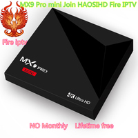 MX9 PRO мини ТВ Box Android 7,1 ТВ коробка присоединиться haosihd огонь ip ТВ жизни Бесплатная Smart Box 2.4g WiFi USB 3,0 Smart Media Player