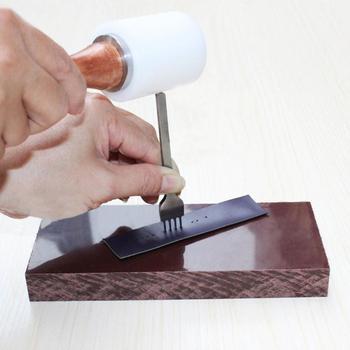 Mới 4 cái/lốc DIY Leathercraft Thủ Công Dụng Cụ 3/4/5mm Da Khoét Lỗ Khâu Đấm Công Cụ 1 + 2 + 4 + 6 phổ Dụng Cụ Dây Da