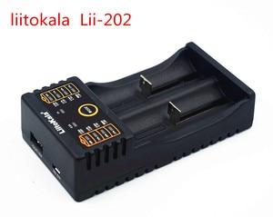 Image 4 - Carregador liitokala lii 202, para 1.2 v/3 v/3.7 v/4.25 v 18650/26650 recarregavel bateria recarregavel/18350/16340/18500/aa/aaa ni mh