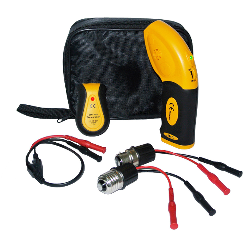 Electronic Circuit Breaker Finder Receiver Transmitter Fuse Locator Socket 110V