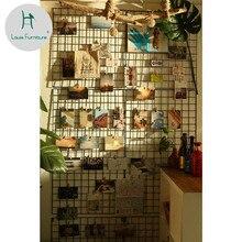 Луи мода фото простая железная картина в рамке настенный подвес Клип Висячие украшения