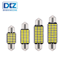 DXZ 2Pcs 31mm 36mm 39mm 41mm C5W C10W 18 27 30 33 SMD 3014 LED Festoon Light CANBUS NO ERROR Auto Interior Dome lamp