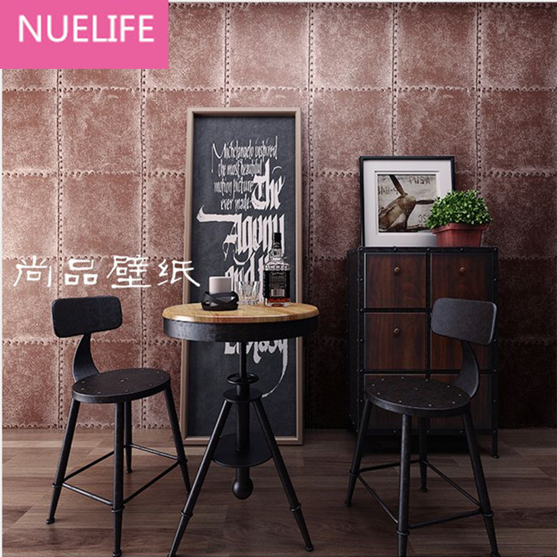 0.53x10 Meter Retro nostalgic lattice pattern industrial style wallpaper bedroom bar cafe living room background wallpaper N12