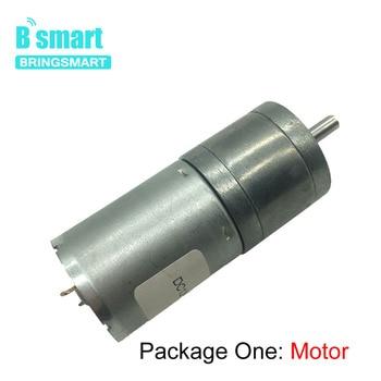 Bringsmart JGA25-370 Gear Motor 12v DC Low rpm Robot High Torque Micro 6v Motor 12 volt 24v DC Robot Reducter vacuum actuator