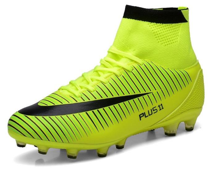 Los Hombres altos Del Tobillo Verde TF FG AG Suelas de Zapatos de Fútbol 9a509136474a5