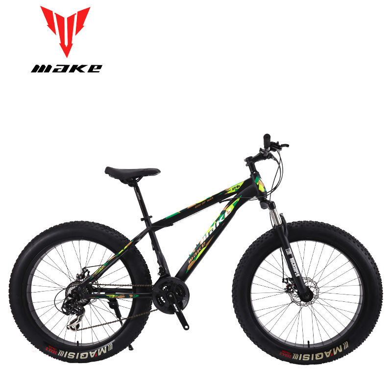 Make Steel Frame, Fatbike 26 Wheel, 24 Speed SHIMANO