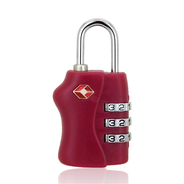 TSA Customs Password Lock 3 Digit Combination  Luggage Small Lock Gym Password Lock Padlock