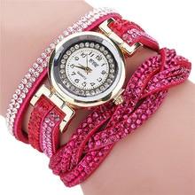 2017 New hot amazing wonderful FashionCCQ Women Fashion Casual AnalogQuartz Women Rhinestone Watch Bracelet Watch Gift P*21